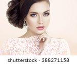 beautiful bride. wedding make up | Shutterstock . vector #388271158