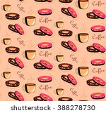 seamless pattern with cup of...