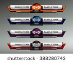 scoreboard design elements for... | Shutterstock .eps vector #388280743
