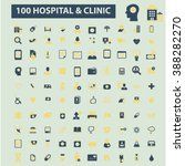 hospital clinic icons  | Shutterstock .eps vector #388282270
