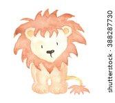 Lion Animal Watercolor...