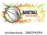 hand drawn vector grunge banner ... | Shutterstock .eps vector #388294594