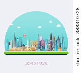 planet earth travel the world.... | Shutterstock .eps vector #388310728