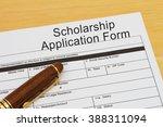 applying for a scholarship ... | Shutterstock . vector #388311094