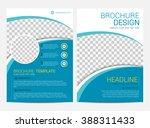 brochure template flyer design... | Shutterstock .eps vector #388311433