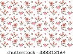 cute pattern in small flower.... | Shutterstock .eps vector #388313164