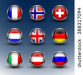 set round glass icons flags of...   Shutterstock .eps vector #388317094