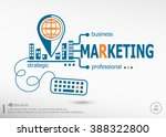 marketing strategy and... | Shutterstock .eps vector #388322800