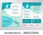 iron icon  on vector brochure.... | Shutterstock .eps vector #388322896