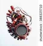 wired red heart organ | Shutterstock . vector #388325710