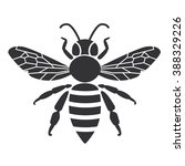 Bee Icon Or Silhouette. Vector...