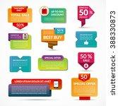 set of sale  discount  special... | Shutterstock .eps vector #388330873