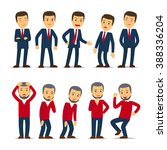 businessman emotions | Shutterstock . vector #388336204