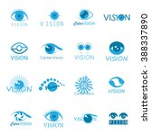 vision icons set   isolated on...