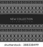 fair pattern sweater design on... | Shutterstock .eps vector #388338499
