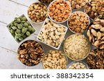 Small photo of nut selection in dishes
