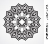 abstract round ornament. ethnic ...   Shutterstock . vector #388348246