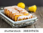 lemon yogurt loaf cake  sliced... | Shutterstock . vector #388349656
