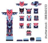 Vector Set Of Totem Animals....