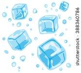 ice cubes   Shutterstock .eps vector #388360786