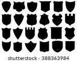set of different shields... | Shutterstock .eps vector #388363984