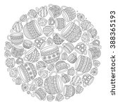 pattern for coloring book with...   Shutterstock .eps vector #388365193
