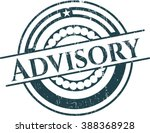 advisory with rubber seal... | Shutterstock .eps vector #388368928