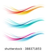 Set Of Abstract Color Wave....