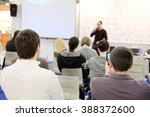 the image of a conference | Shutterstock . vector #388372600