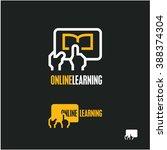 online learning logo | Shutterstock .eps vector #388374304