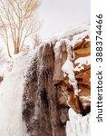 water fall  half frozen half... | Shutterstock . vector #388374466