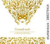 mardi gras masquerade mask.... | Shutterstock .eps vector #388375414