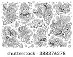 sketchy vector hand drawn... | Shutterstock .eps vector #388376278
