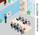 office interior and people 3d... | Shutterstock .eps vector #388377178