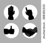 monochrome silhouette hands... | Shutterstock .eps vector #388382320