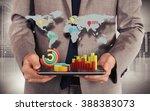 web world statistics | Shutterstock . vector #388383073