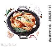 watercolor food clipart  ... | Shutterstock . vector #388388464