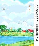 summer time | Shutterstock . vector #388393870