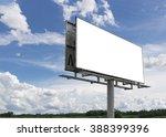 empty billboard in front of...   Shutterstock . vector #388399396