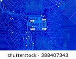 closeup electronic circuit... | Shutterstock . vector #388407343