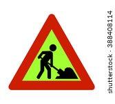 norway roadworks ahead sign | Shutterstock .eps vector #388408114