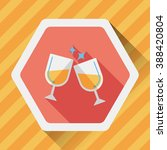 martini glass cheers flat icon... | Shutterstock .eps vector #388420804