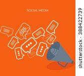 communication chatting.flat... | Shutterstock .eps vector #388422739