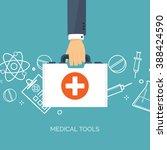 medical flat vector background... | Shutterstock .eps vector #388424590