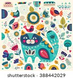 art vector colorful... | Shutterstock .eps vector #388442029