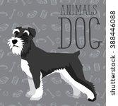 vector polygon dog concept.... | Shutterstock .eps vector #388446088