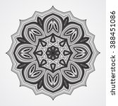 abstract round ornament. ethnic ...   Shutterstock . vector #388451086
