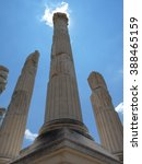 Small photo of Columns of Pergamon at high noon, Turkey