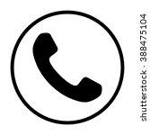 handset icon template design | Shutterstock .eps vector #388475104