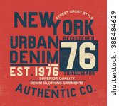 sport style tee print design | Shutterstock .eps vector #388484629